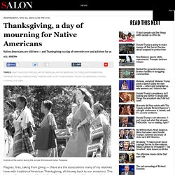Thanksgiving, a day of mourning for Native Americans