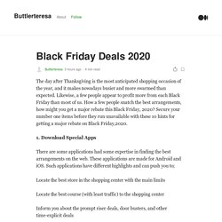 Black Friday Deals 2020. The day after Thanksgiving is the most…