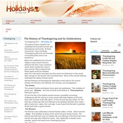 Thanksgiving on the Net - The History of Thanksgiving and its Celebrations