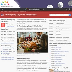 Thanksgiving Day in United States