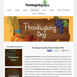 Thanksgiving Dinner Ideas 2016