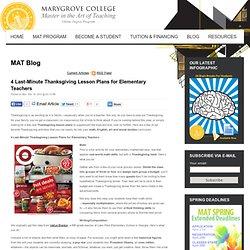 4 Last-Minute Thanksgiving Lesson Plans for Elementary Teachers