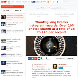 Thanksgiving Breaks Instagram Records: Over 10 Million Photos Shared