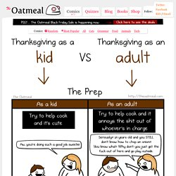 Thanksgiving as a kid VS Thanksgiving as an adult
