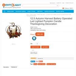 Buy online Latest 12.5 Autumn Harvest Battery Operated Led Lighted Pumpkin Candle Thanksgiving Decoration on lightsdaddy.com