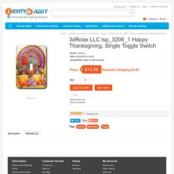Buy online Latest 3dRose LLC lsp_3206_1 Happy Thanksgiving, Single Toggle Switch on lightsdaddy.com