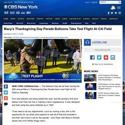 Macy's Thanksgiving Day Parade Balloons Take Test Flight At Citi Field