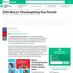 2016 Macy's Thanksgiving Day Parade Visitors Guide