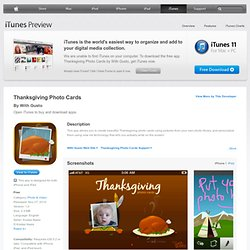 Thanksgiving Photo Cards on the App Store on iTunes