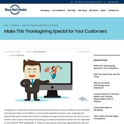 Make This Thanksgiving Special for Your Customers - Blue Mail Media - Blog