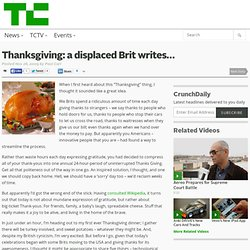 Thanksgiving: a displaced Brit writes…