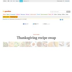 Thanksgiving recipe swap