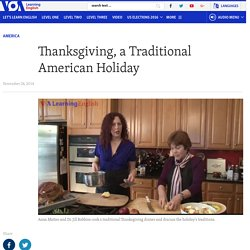 Thanksgiving, a Traditional American Holiday
