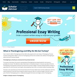 What is Thanksgiving and Why Do We Eat Turkey Definition Essay