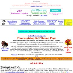 Thanksgiving Crafts, Worksheets, and Activities