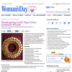 Thanksgiving Wreath - Easy Thanksgiving Crafts at WomansDay.com