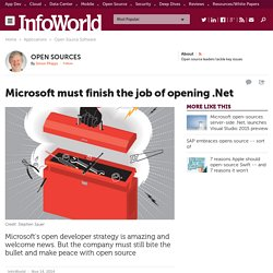 Now that .Net is open, Microsoft should finish the job