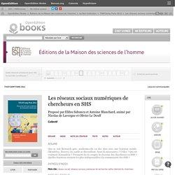 THATCamp Paris 2012 - Les réseaux sociaux numériq... - Collectif