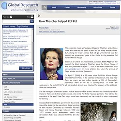 How Thatcher helped Pol Pot