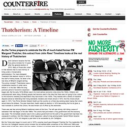 Thatcherism: A Timeline