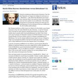 Match Fillon-Macron: thatchérisme versus libéralisme? (1)