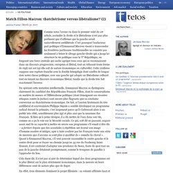 Match Fillon-Macron: thatchérisme versus libéralisme? (2)