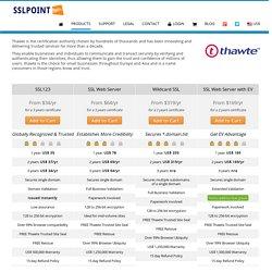 Thawte SSL Certificates