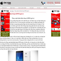 Thay mặt kính điện thoại OPPO giá rẻ