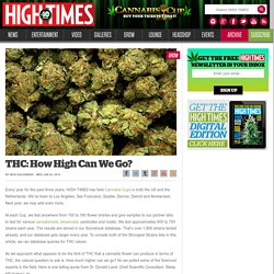THC: How High Can We Go?