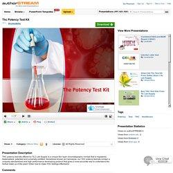 Thc Potency Test Kit
