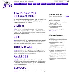 The 10 Best CSS Editors of 2015