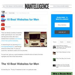 The 10 Best Websites for Men