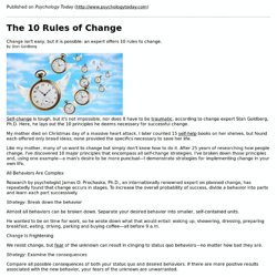 The 10 Rules of Change