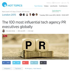 The 100 top tech PR executives in the world