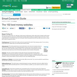 The 102 best money websites - 3