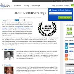 The 15 Best B2B Sales Blogs