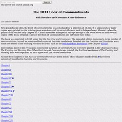 The 1833 Book of Commandments