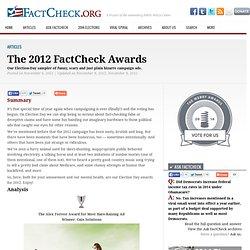 The 2012 FactCheck Awards