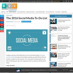 The 2016 Social Media To-Do List