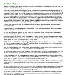 The 22 Rules of Trading