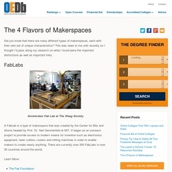 The 4 Flavors of Makerspaces
