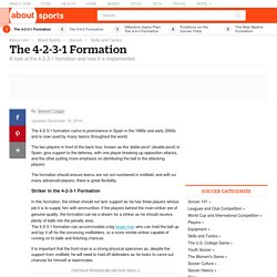 The 4-2-3-1 Formation - Soccer Tactics