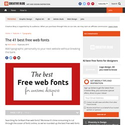The 40 best free web fonts