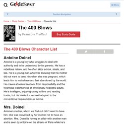 The 400 Blows Characters