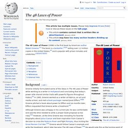 The 48 Laws of Power - Wikipedia, the free encyclopedia - StumbleUpon