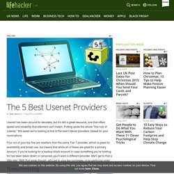 The 5 Best Usenet Providers