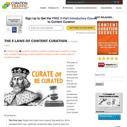 The 5 Laws of Content Curation