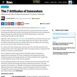 The 7 Attitudes of Innovators