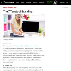 The 7 Tenets of Branding