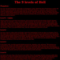 The 9 levels of Hell